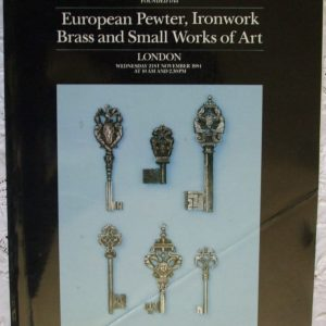 Sothebys European Pewter Ironwork Brass And Small Works Of Art 21 November 1984