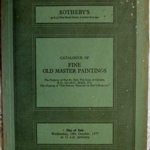 Sothebys Fine Old Master Paintings 19 October 1977