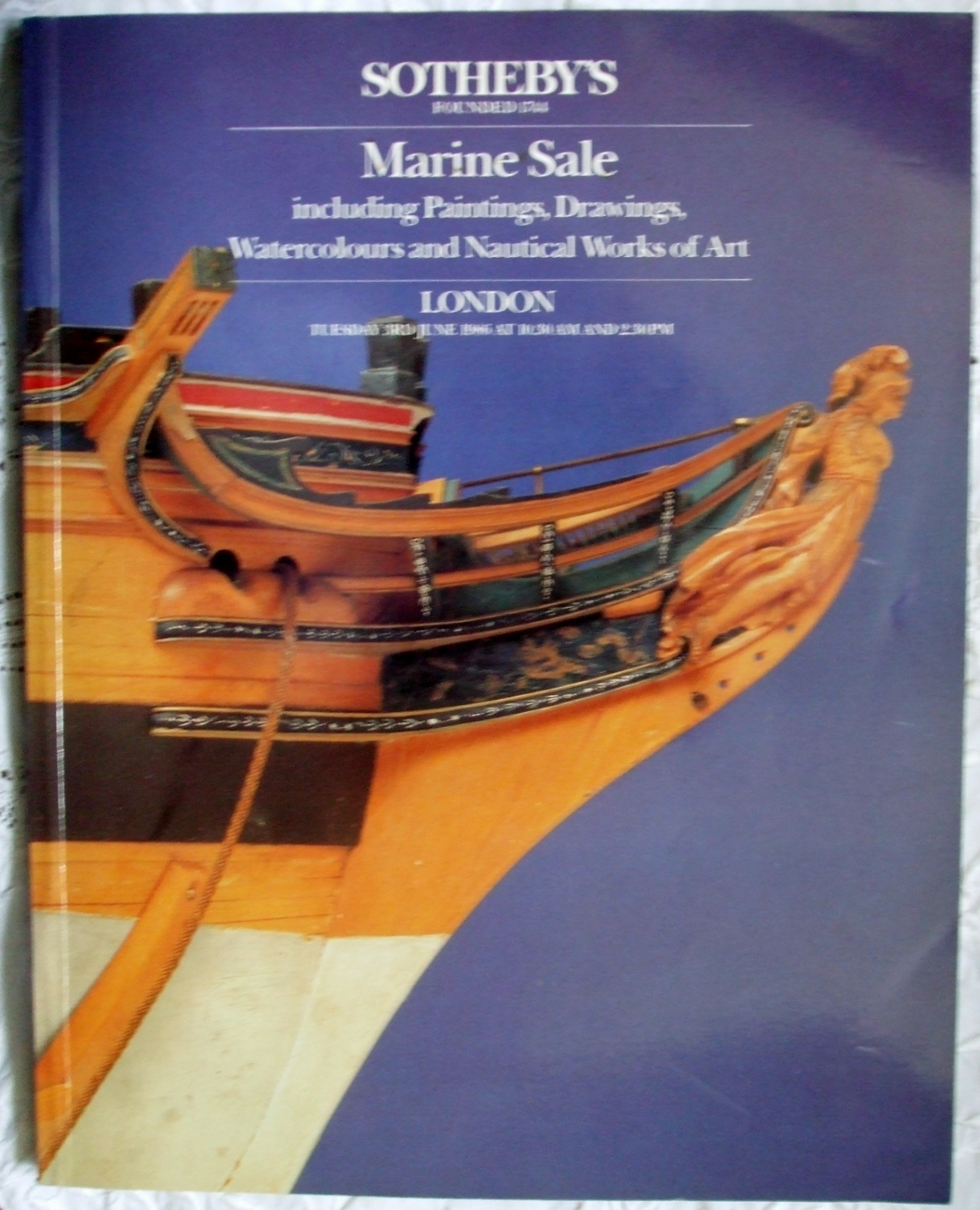 Sotheby's Marine Sale London 03. 06. 1986