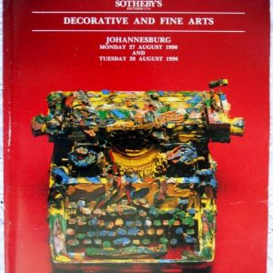 Stephan Weltz Decorative And Fine Arts Johannesburg 27-28 August 1990