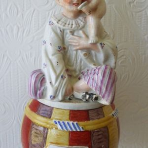 Staffordshire Tobacco Jar and Cover H a1376