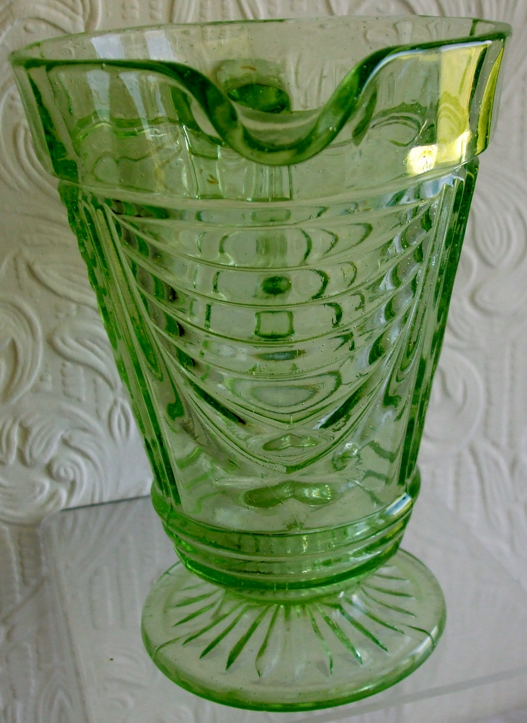 Sowerby Green Glass Water - Lemonade Jug