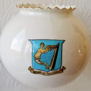 Goss Ball Vase Arms of Ireland