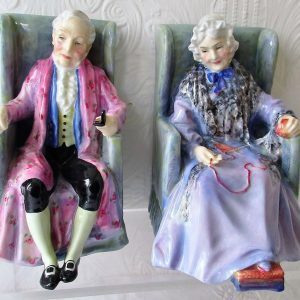 Pair of Royal Doulton Figurines Darby HN 1427 and Joan HN 1422