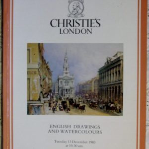 Christies English Drawings and Watercolours 13 December 1983