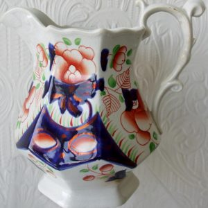 Gaudy Welsh Cambrian Rose Jug