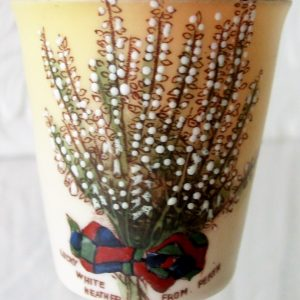 Carlton China White Heather Beaker