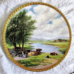 Reginald Johnson Water Meadows with Cattle Plate
