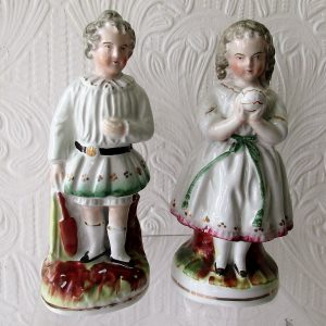 Pair of Staffordshire Figures Children at Play