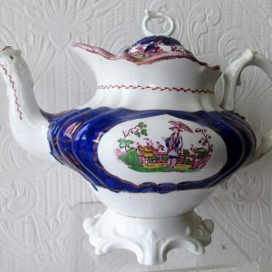 Gaudy Welsh Chinoiserie Teapot