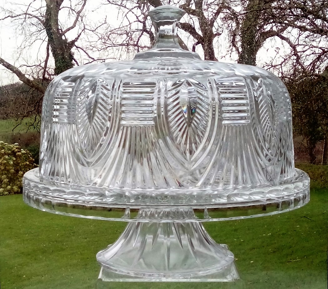 Covered Cut Glass Cakestand