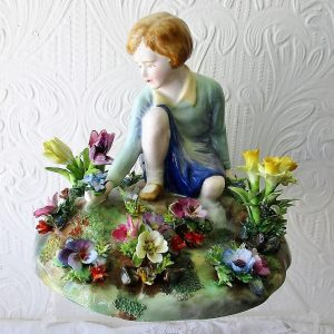 Crown Staffordshire Picking Flowers