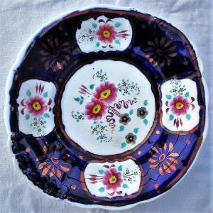 Gaudy Welsh Floret Bread And Butter Plate