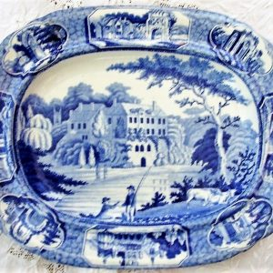 Blue and White Guy's Cliff Warwickshire Dish Henshall & Co