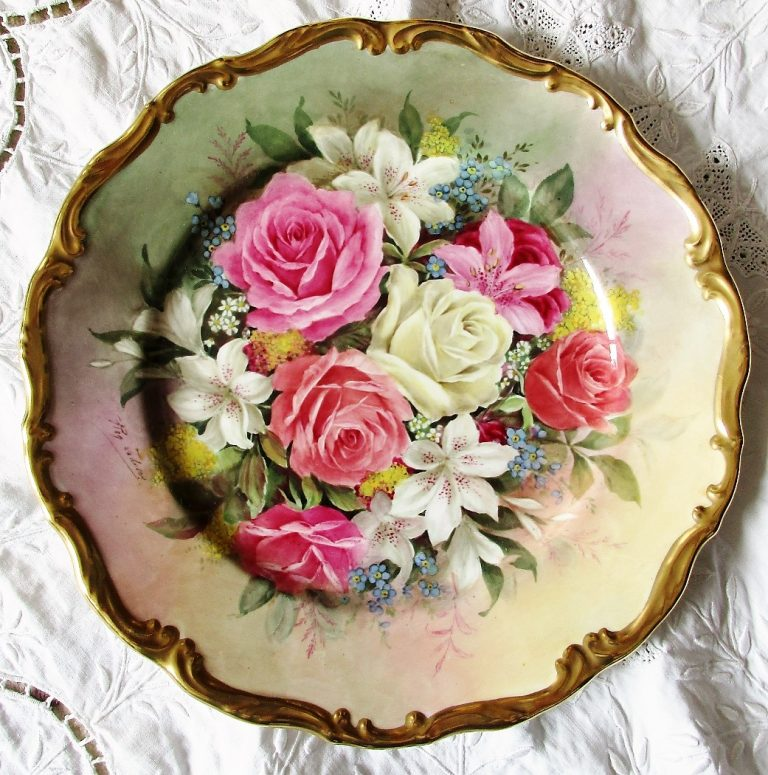 Reginald Johnson Orchids and Roses Plate 1981