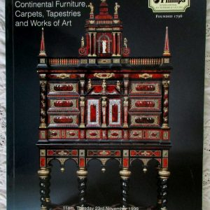 Phillips Fine English and Continental Furniture Carpets Tapestries and Works of Art 23 November 1999