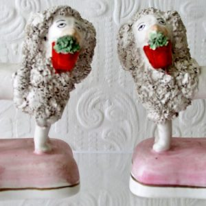 Pair of Dudson Miniature Staffordshire Poodles