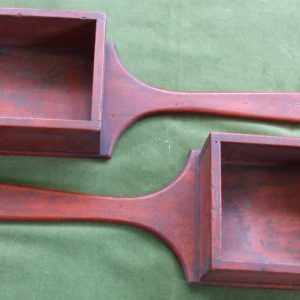Pair of Pine Alms Boxes