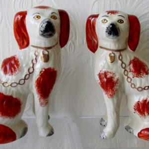 Pair of Staffordshire Spaniels H 2477A H 2477B