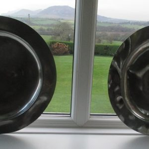 Pair of Unmarked Georgian Pewter Dishes