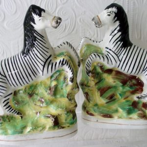 Pair of Staffordshire Zebras H 3122 H 3123