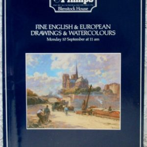 Phillips Fine English and European Drawings and Watercolours 10 September 1984