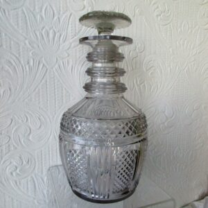 Georgian Prussian Cut Glass Decanter
