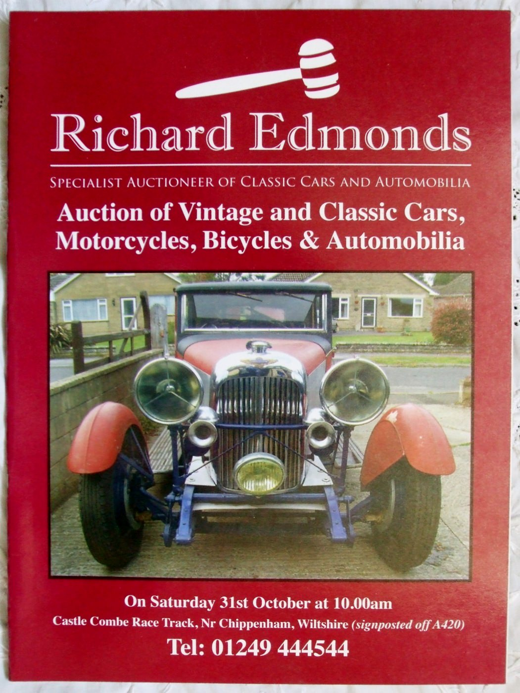 Richard Edmonds Vintage Classic Cars Motorcycles Bicycles Automobilia 31 October 2009