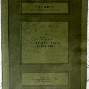 Sothebys British Pictures from 1850 18 January 1984