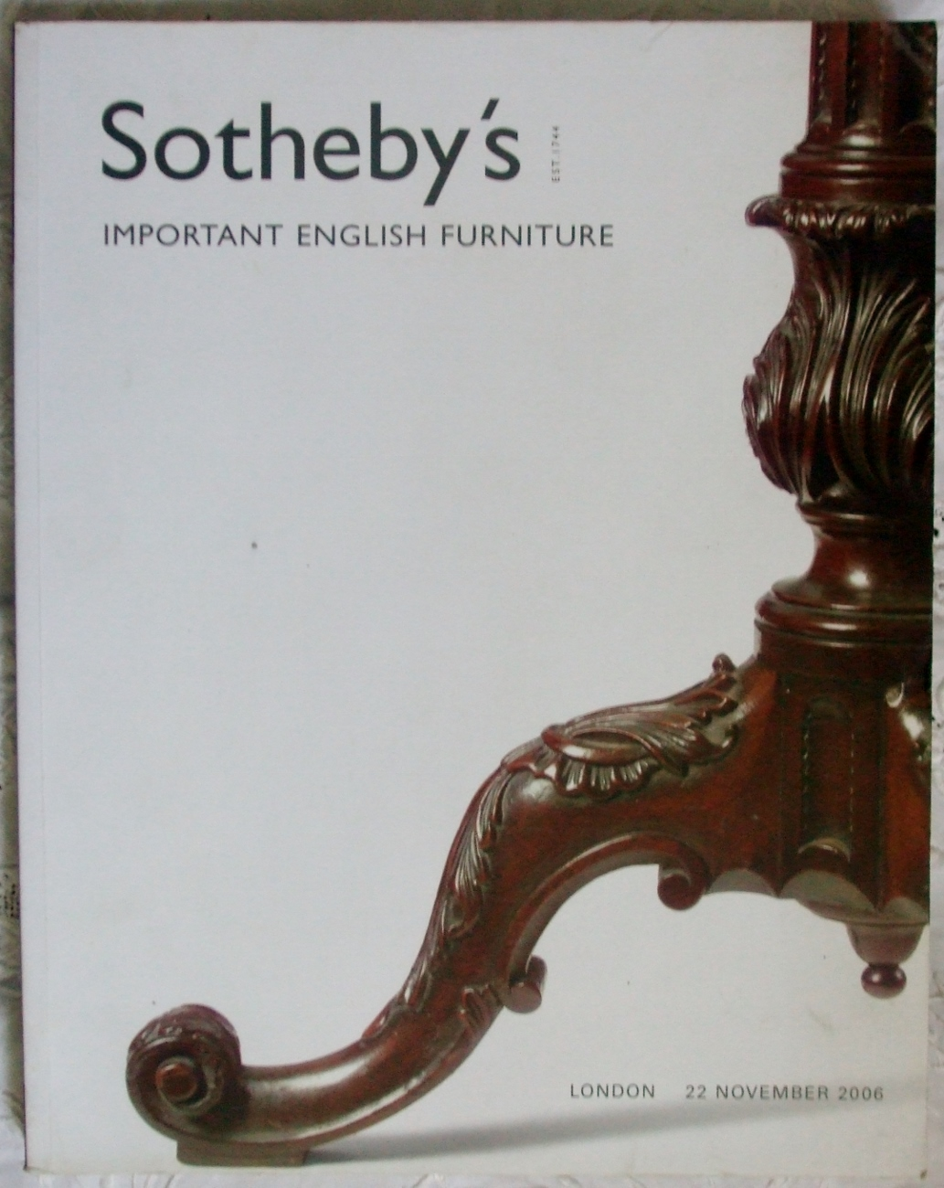 Sothebys Important English Furniture 22 November 2006