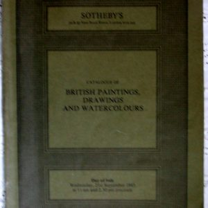 Sothebys British Paintings Drawings and Watercolours 21 September 1983