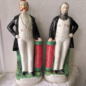 Pair of Staffordshire Figures Moody H 59 and Sankey H 84