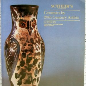 Sothebys Ceramics By 20th Century Artists 19 October 1988