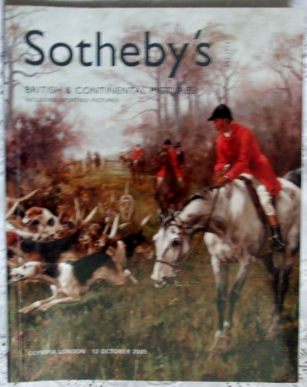 Sothebys British And Continental Pictures Including Sporting Pictures 12 October 2005