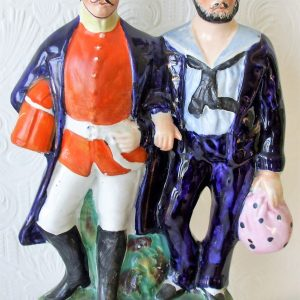 Staffordshire Figure Soldier and Sailor H 4116