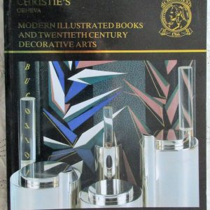 Christies Modern Illustrated Books And Twentieth Century Decorative Arts Geneva 13 November 1988