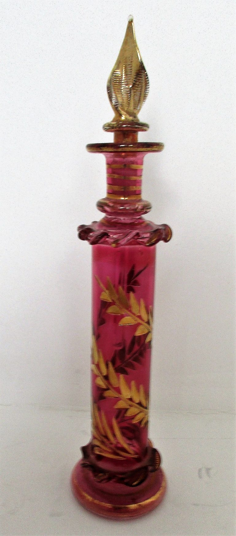 Cranberry Glass Perfume Phial / Bottle