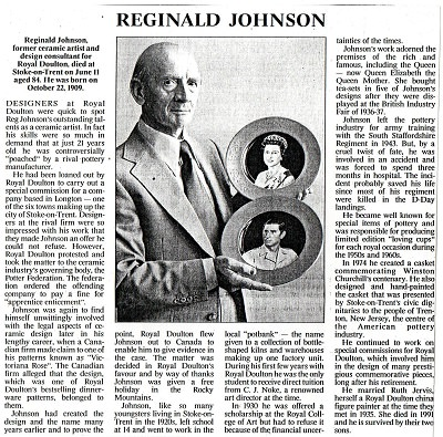 Reginald Johnson Times Obituary 1993