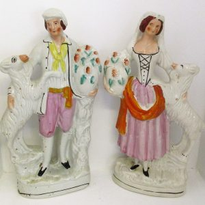 Pair of Staffordshire Goatherds H2084CD