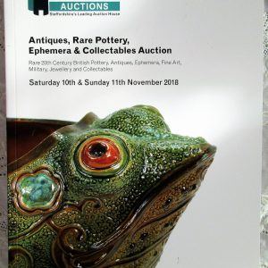 Potteries Auctions Antiques Rare Pottery Ephemera and Collectables Silverdale 11 November 2018