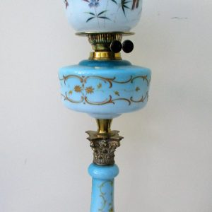 Blue Butterfly Oil Lamp