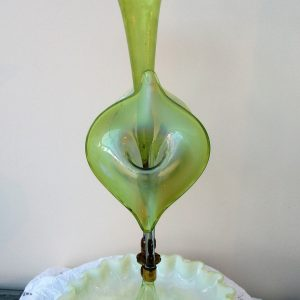 Green Art Nouveau Epergne