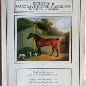 Contents of Gargrave House, Yorkshire