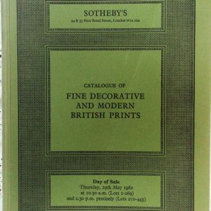 S PASIPHAE Fine Decorative and Modern British Prints L 29. 05. 1980
