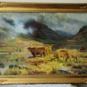 Louis B. Hurt Highland Cattle Oil Print