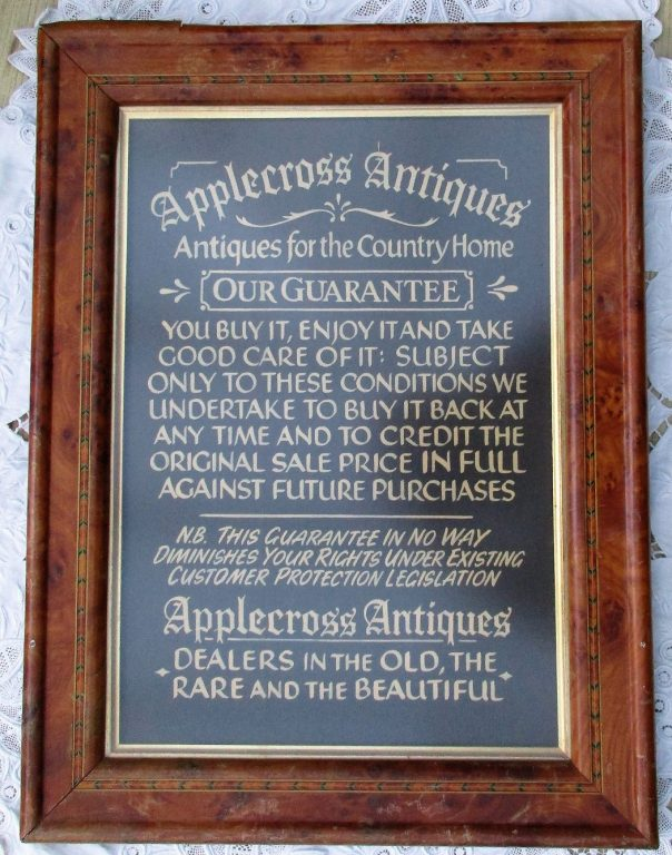 Applecross Guarantee