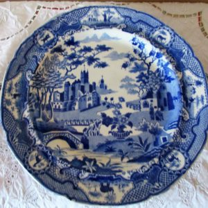 Gothic Castle Hot Water Plate Spode