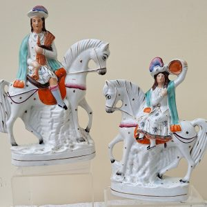 Pair of Mounted Musicians