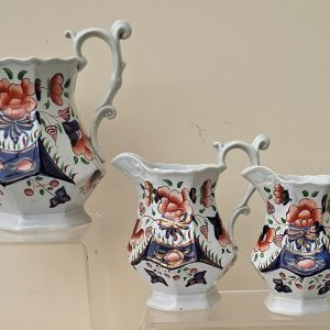 Set of 3 Cambrian Rose Jugs